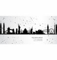 cityscape landmarks geometric connection backgroun vector image vector image