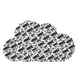 cloud collage of telescope icons vector image vector image