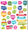 collection colorful sale stickers and tags vector image