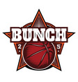 color template on theme basketball for vector image vector image