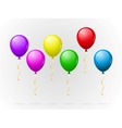 Colorful balloons pack vector image vector image