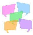 colorful speech bubble on white background stock vector image vector image