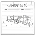 Coloring worksheet with a cow vector image vector image