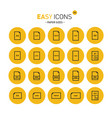 easy icons 15c papers vector image vector image