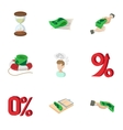 Funding icons set cartoon style vector image vector image
