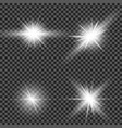 glow light effect star burst with sparkles sun vector image vector image