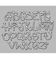 Graffiti font alphabet letters hip hop type vector | Price: 1 Credit (USD $1)