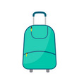 green wheeled travel bag with luggage vector image vector image