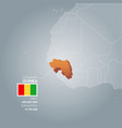 guinea information map vector image