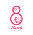 happy womens day creative background design vector image