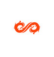 infinity fire logo vector image