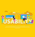 interface usability flat background vector image vector image