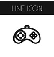 isolated gamer outline joystick element vector image vector image