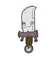 knife comic cartoon character vector image vector image
