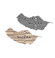 map of madeira vector image vector image