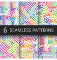 modern geometric seamless patterns with vector image vector image