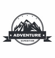 mountain adventure logo design template vector image