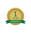 One year warranty label vector image vector image