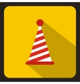 Party hat icon in flat style vector image