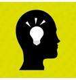 person thinking design vector image