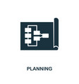 planning creative icon simple element vector image vector image