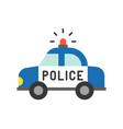 police car police related icon vector image vector image