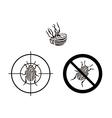 prohibition sign colorado beetles vector image vector image