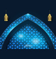 ramadan kareem islamic light geometry background vector image