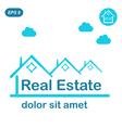 Real estate logo conception vector image