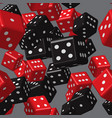 red black dice seamless pattern vector image