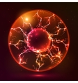 Red fire plasma ball vector image vector image