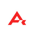 red letter a logo vector image