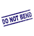 scratched textured do not bend stamp seal vector image vector image