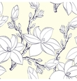 Seamless vintage pattern with magnolia flower vector | Price: 1 Credit (USD $1)