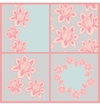 Set of four lace patterns with flowers vector image