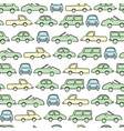 simple cute car pattern isolated background for vector image vector image