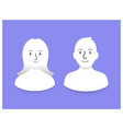 smiling people icons vector image vector image
