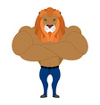 Strong Lion king of beasts Wild animal athlete vector image