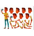 teen boy teenager indian hindu asian vector image vector image