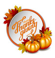 thanksgiving banner hand drawn happy thanksgiving vector image vector image