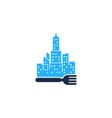 town food logo icon design vector image vector image