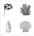 travel cleaning and other monochrome icon in vector image vector image