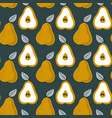 trendy seamless pear pattern repetitive simple vector image vector image