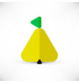 triangle pear icon vector image