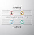 web infographic timeline template layout vector image vector image