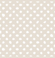 white polka dots on nude seamless background vector image