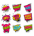 winner set colored comics book balloon vector image vector image