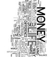 your money or your life text word cloud concept vector image vector image