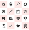 Set of black medical icons vector image