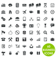 60 valuable creative business icons vector image